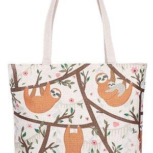 Sloth Family Canvas Tote Bag